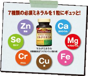 7種類の必須ミネラルを1粒にギュッと!