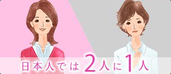 日本人では2人に1人